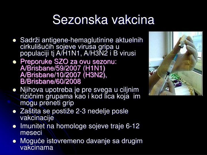 Sezonska vakcina