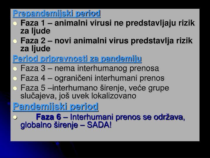 Prepandemijski period