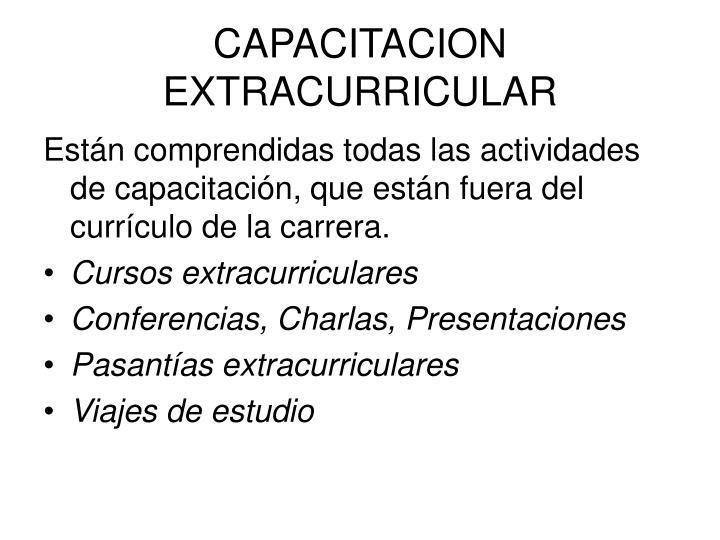 CAPACITACION EXTRACURRICULAR