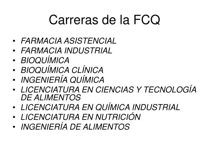 Carreras de la FCQ