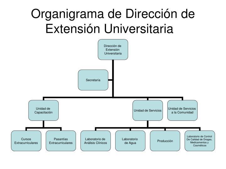 Organigrama de Dirección de Extensión Universitaria