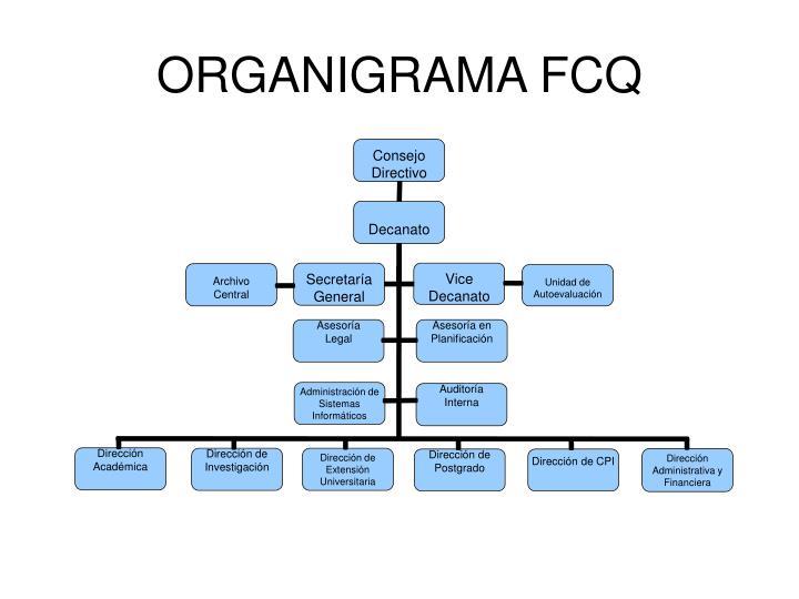 ORGANIGRAMA FCQ