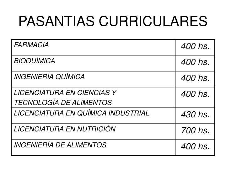 PASANTIAS CURRICULARES