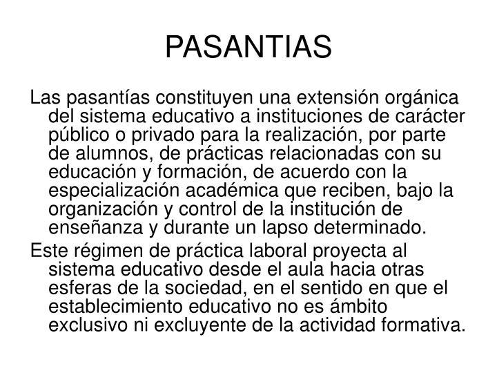 PASANTIAS