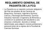 reglamento general de pasant a de la fcq
