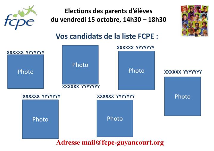 Elections des parents d l ves du vendredi 15 octobre 14h30 18h30