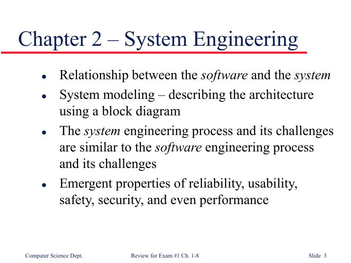 Chapter 2 – System Engineering