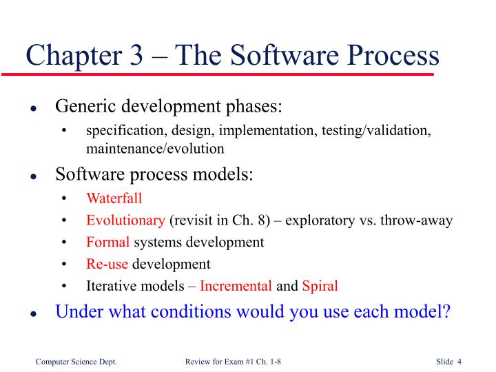 Chapter 3 – The Software Process