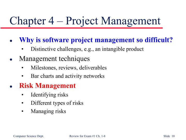 Chapter 4 – Project Management
