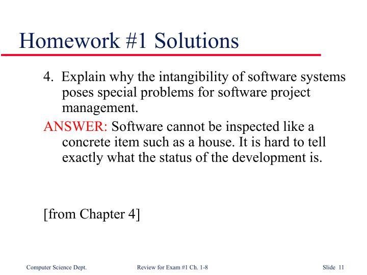 Homework #1 Solutions
