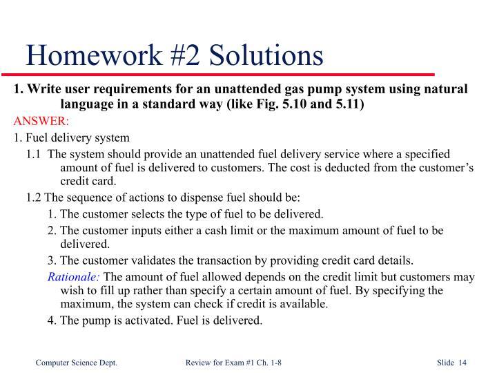Homework #2 Solutions