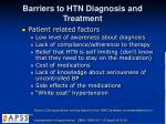 barriers to htn diagnosis and treatment1