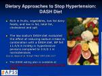 dietary approaches to stop hypertension dash diet