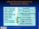 lifestyle recommendations for hypertension dietary
