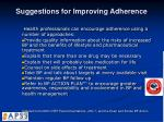 suggestions for improving adherence1
