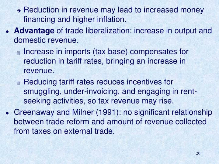 Reduction in revenue may lead to increased money financing and higher inflation.