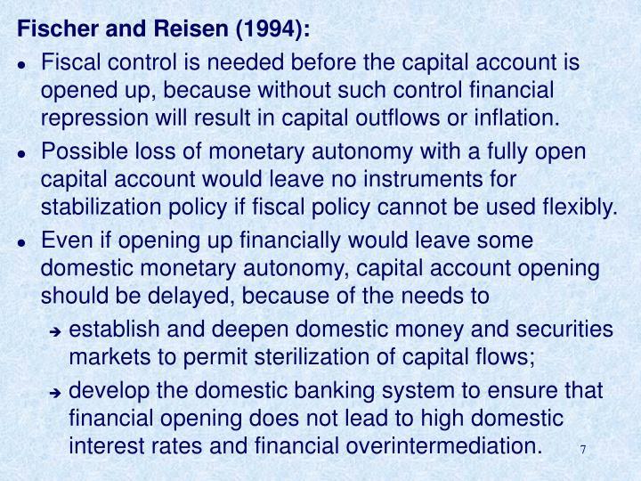 Fischer and Reisen (1994):