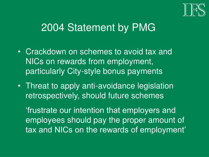 2004 Statement by PMG