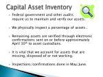 capital asset inventory