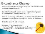 encumbrance cleanup