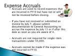 expense accruals