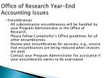 office of research year end accounting issues1