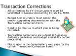 transaction corrections