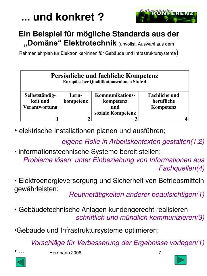 """Ein Beispiel für mögliche Standards aus der """"Domäne"""" Elektrotechnik"""
