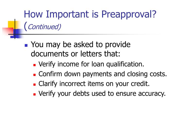 How Important is Preapproval? (