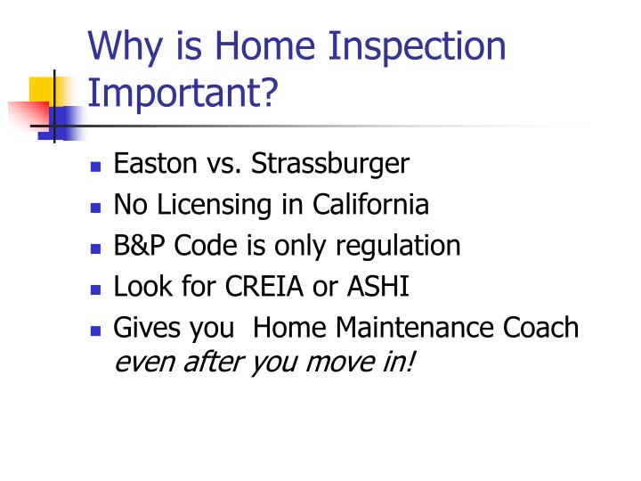 Why is Home Inspection Important?