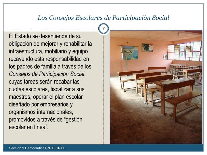 Los Consejos Escolares de Participación Social