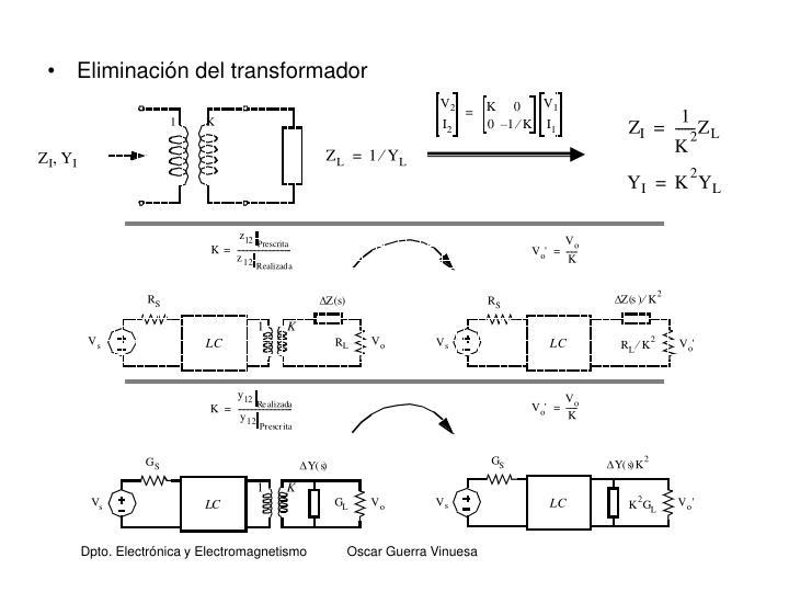 Eliminación del transformador
