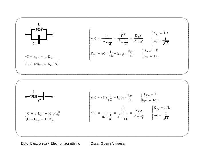 Dpto. Electrónica y Electromagnetismo           Oscar Guerra Vinuesa