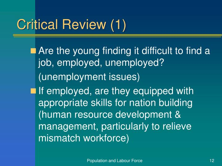 Critical Review (1)
