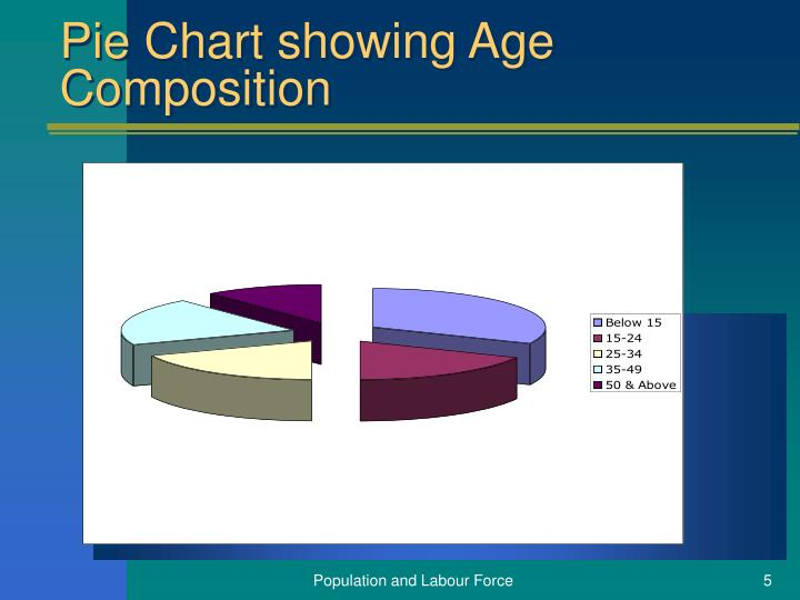 Pie Chart showing Age Composition