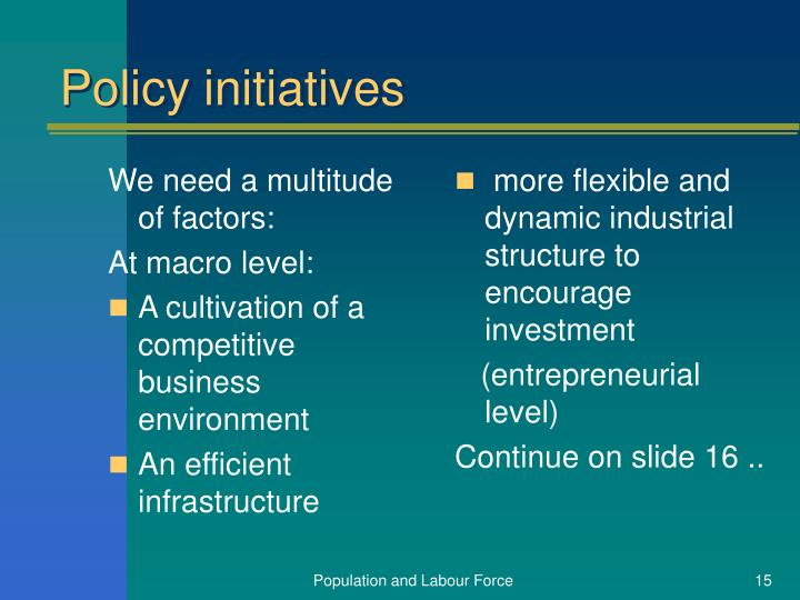 We need a multitude of factors: