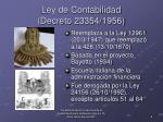 ley de contabilidad decreto 23354 1956