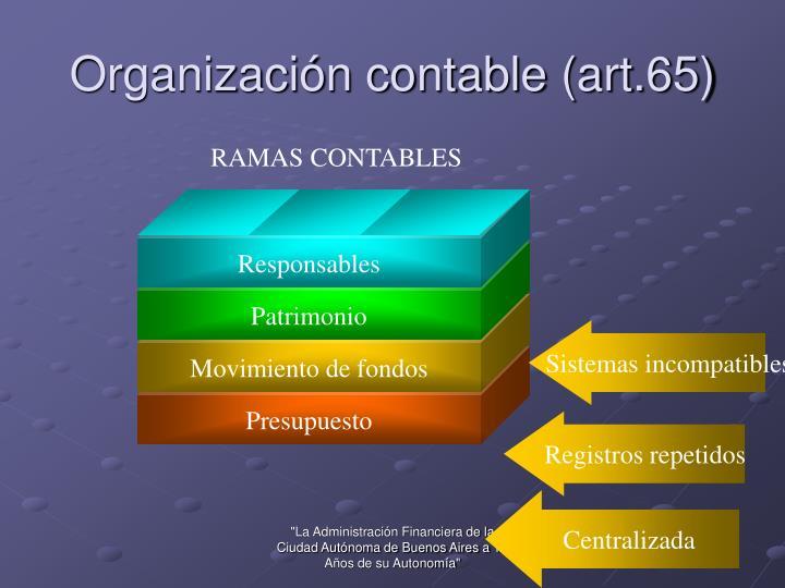 Organización contable (art.65)