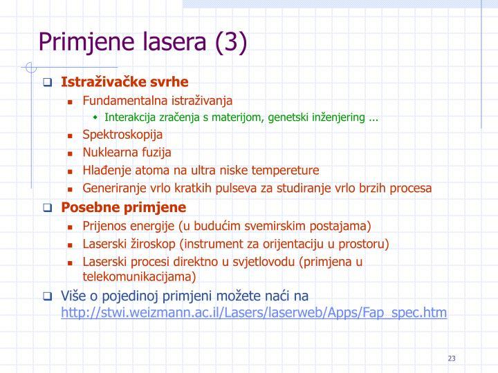 Primjene lasera (3)