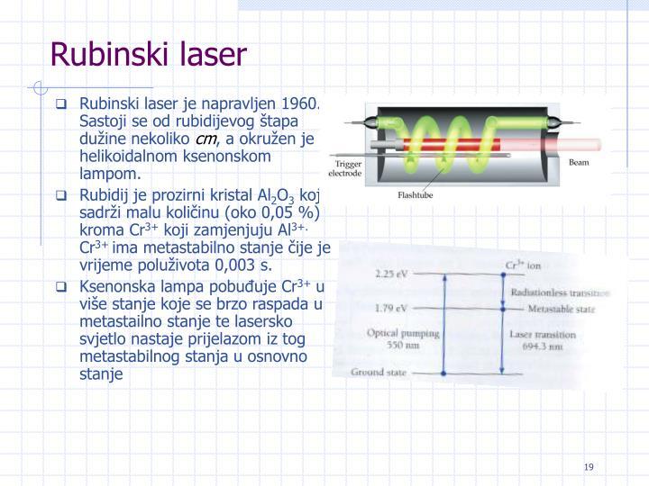 Rubinski laser
