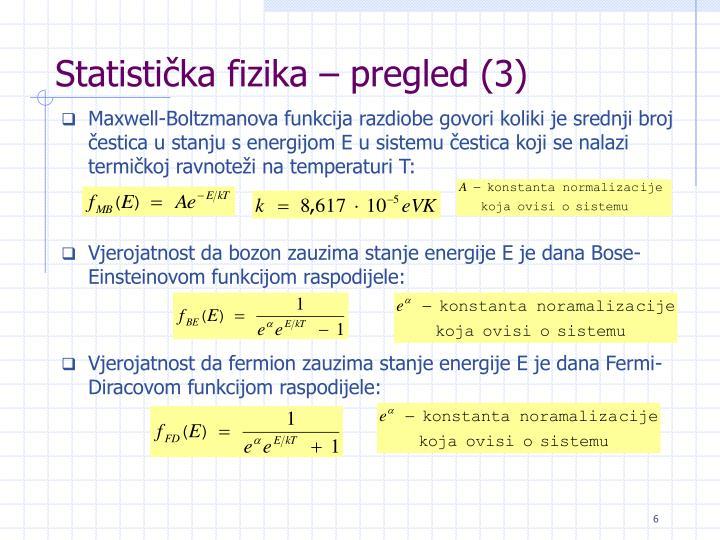 Statistička fizika – pregled (3)