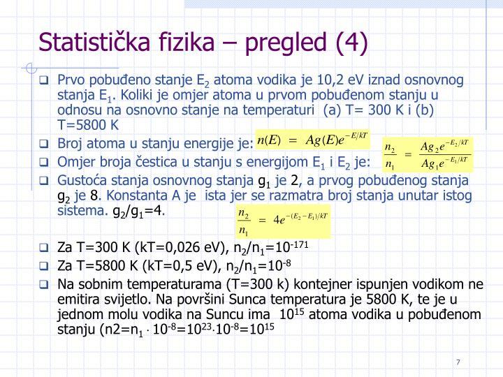 Statistička fizika – pregled (4)
