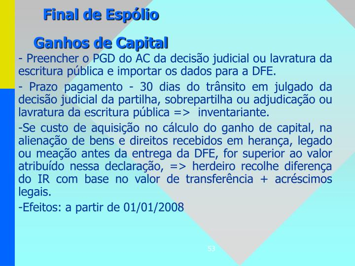 Final de Espólio