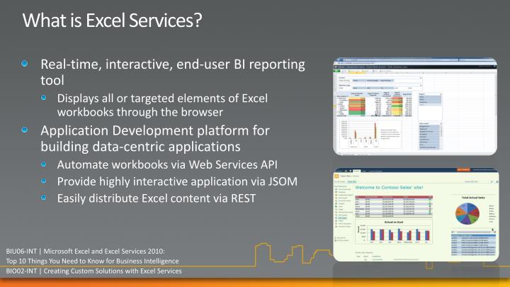 What is Excel Services?