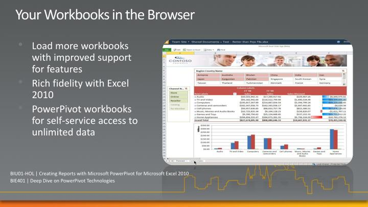 Your Workbooks in the Browser