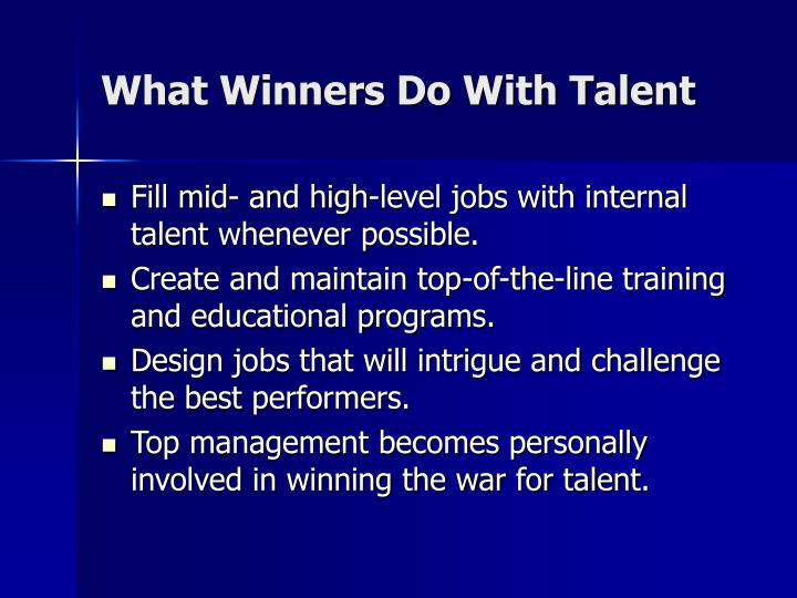 What Winners Do With Talent