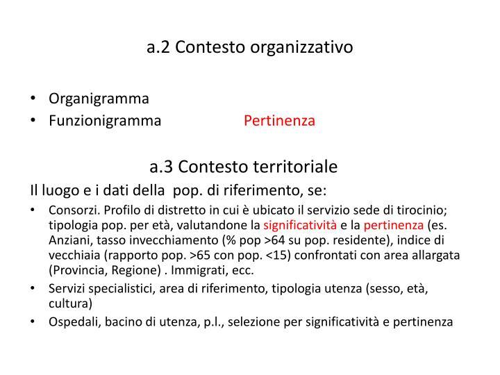 a.2 Contesto organizzativo