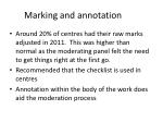 marking and annotation