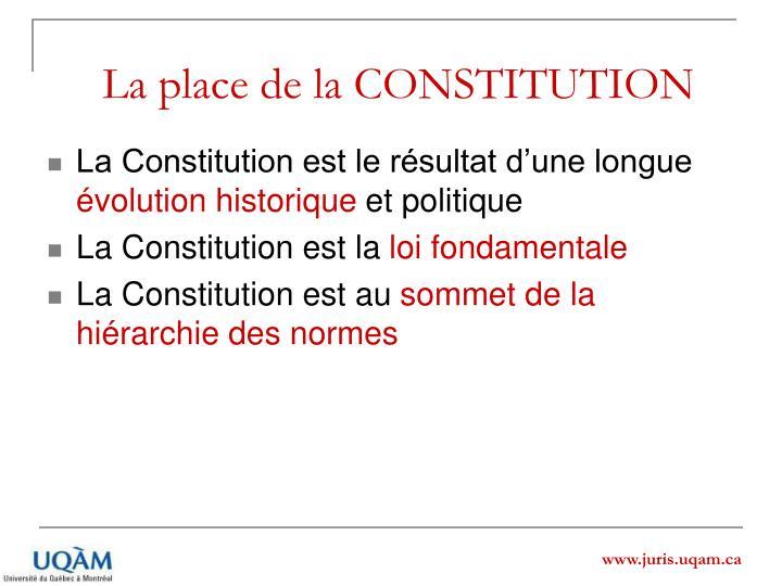 La place de la CONSTITUTION