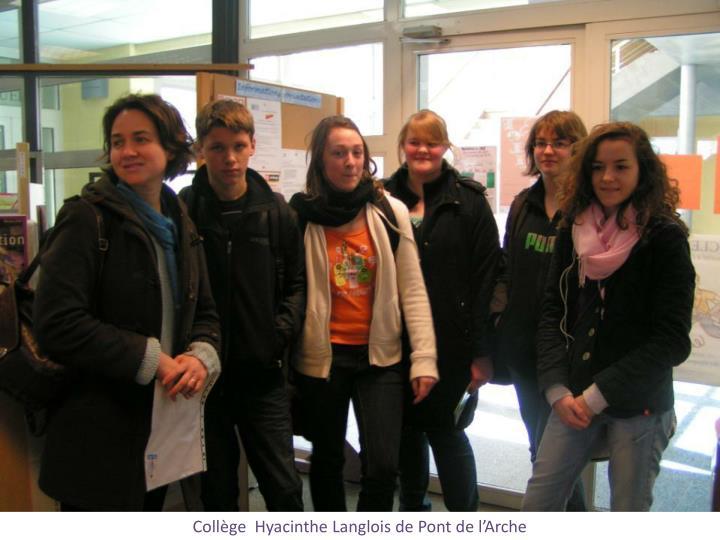 Collège  Hyacinthe Langlois de Pont de l'Arche